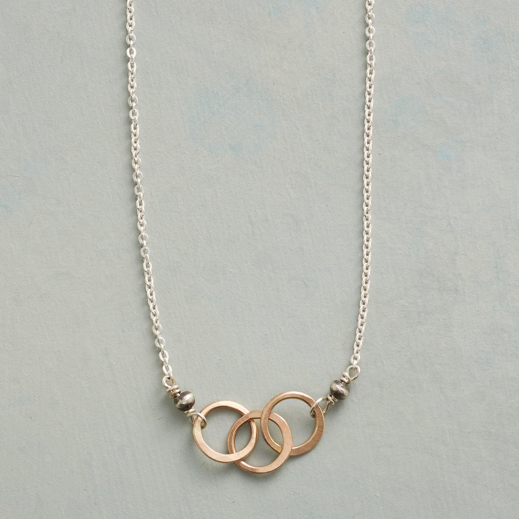 LINKED RING NECKLACE: View 1