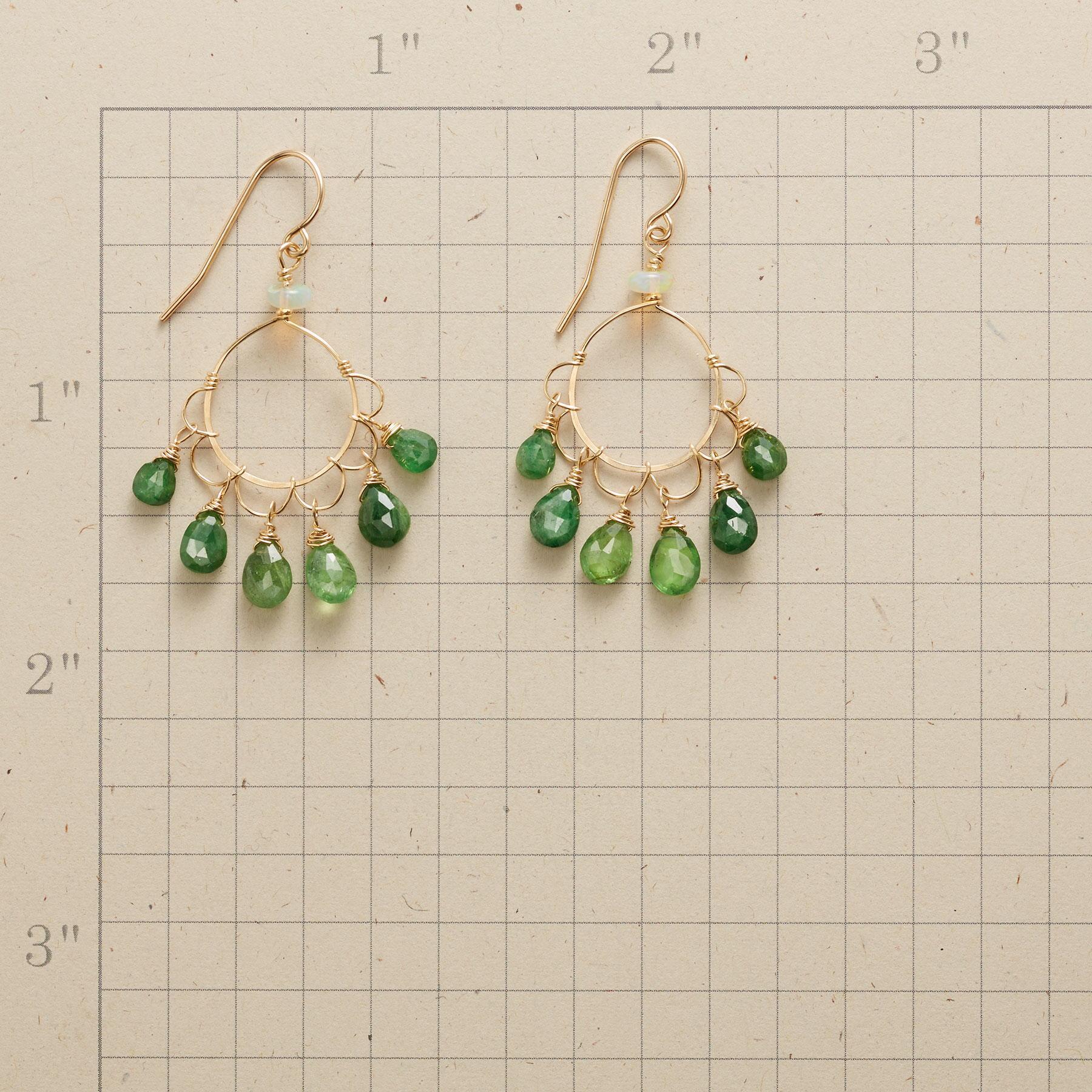 GREEN CLOVER EARRINGS: View 2