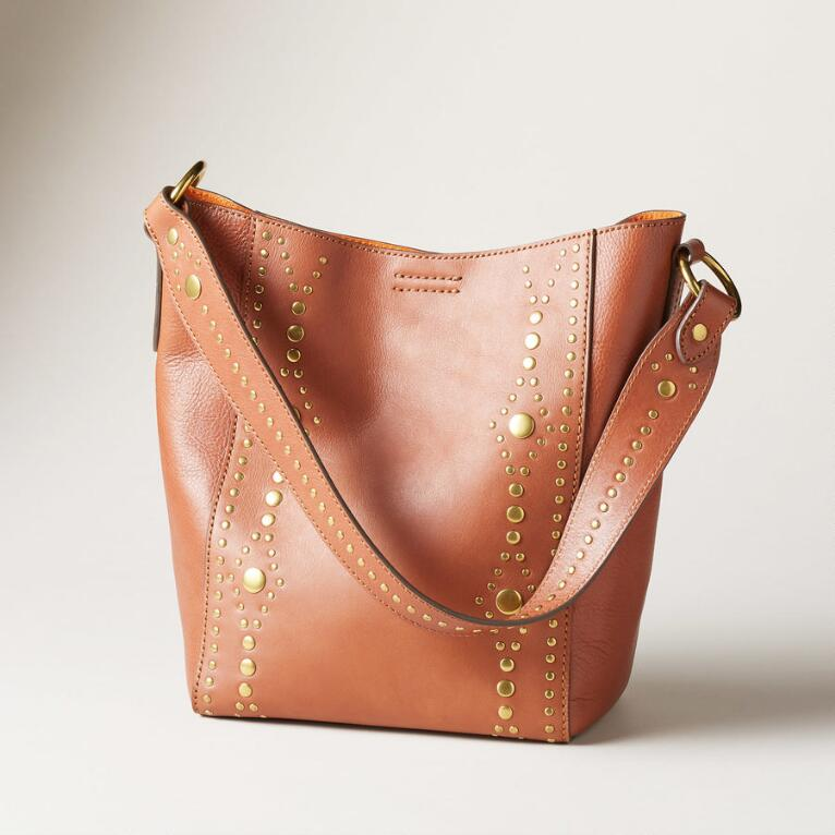 HARNESS STUD BUCKET BAG