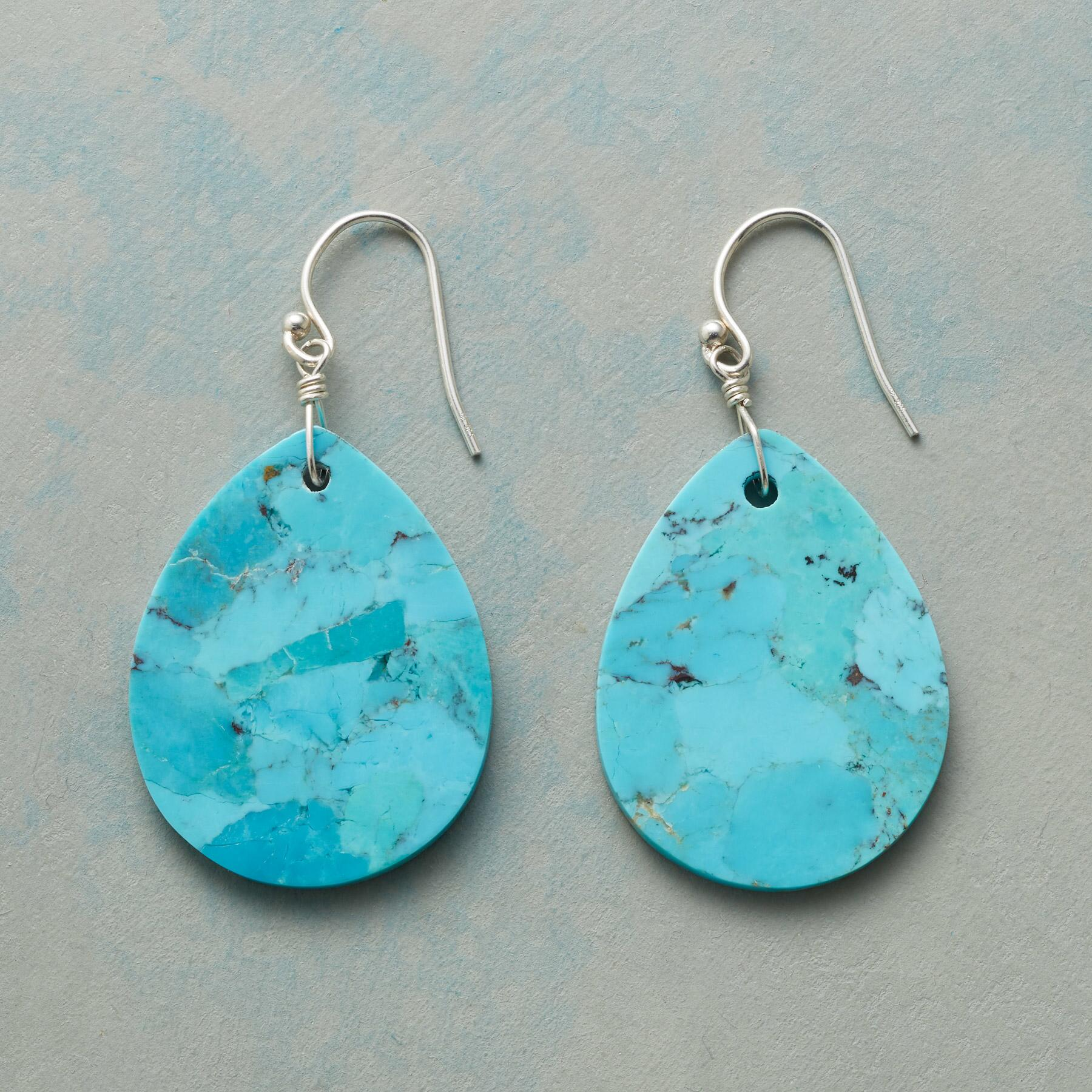 TURQUOISE TEARS EARRINGS: View 1