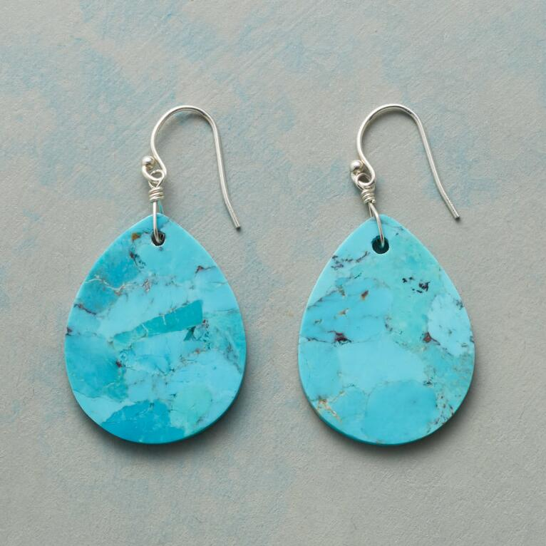 TURQUOISE TEARS EARRINGS