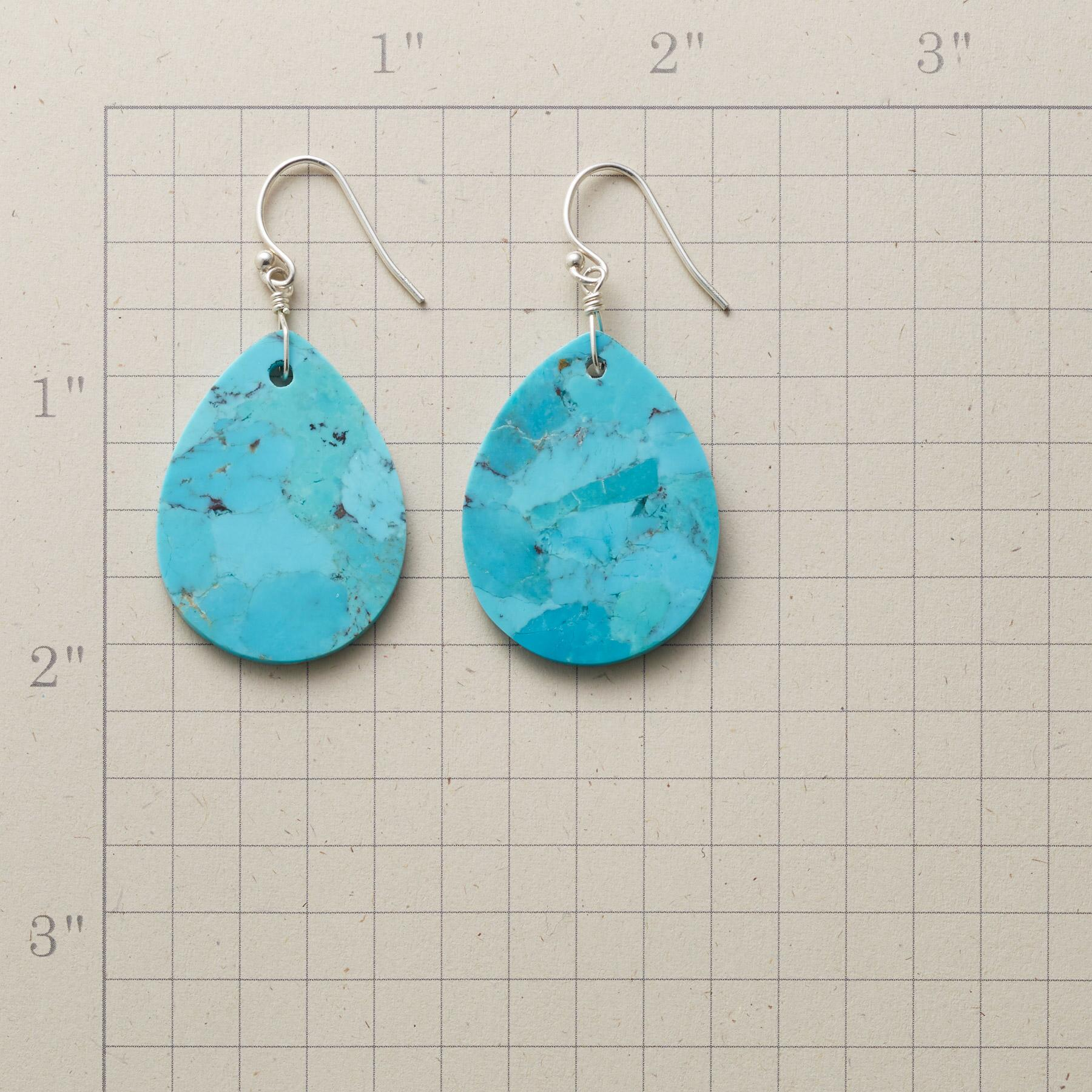 TURQUOISE TEARS EARRINGS: View 2