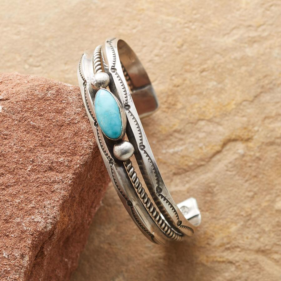 ROPED TURQUOISE CUFF