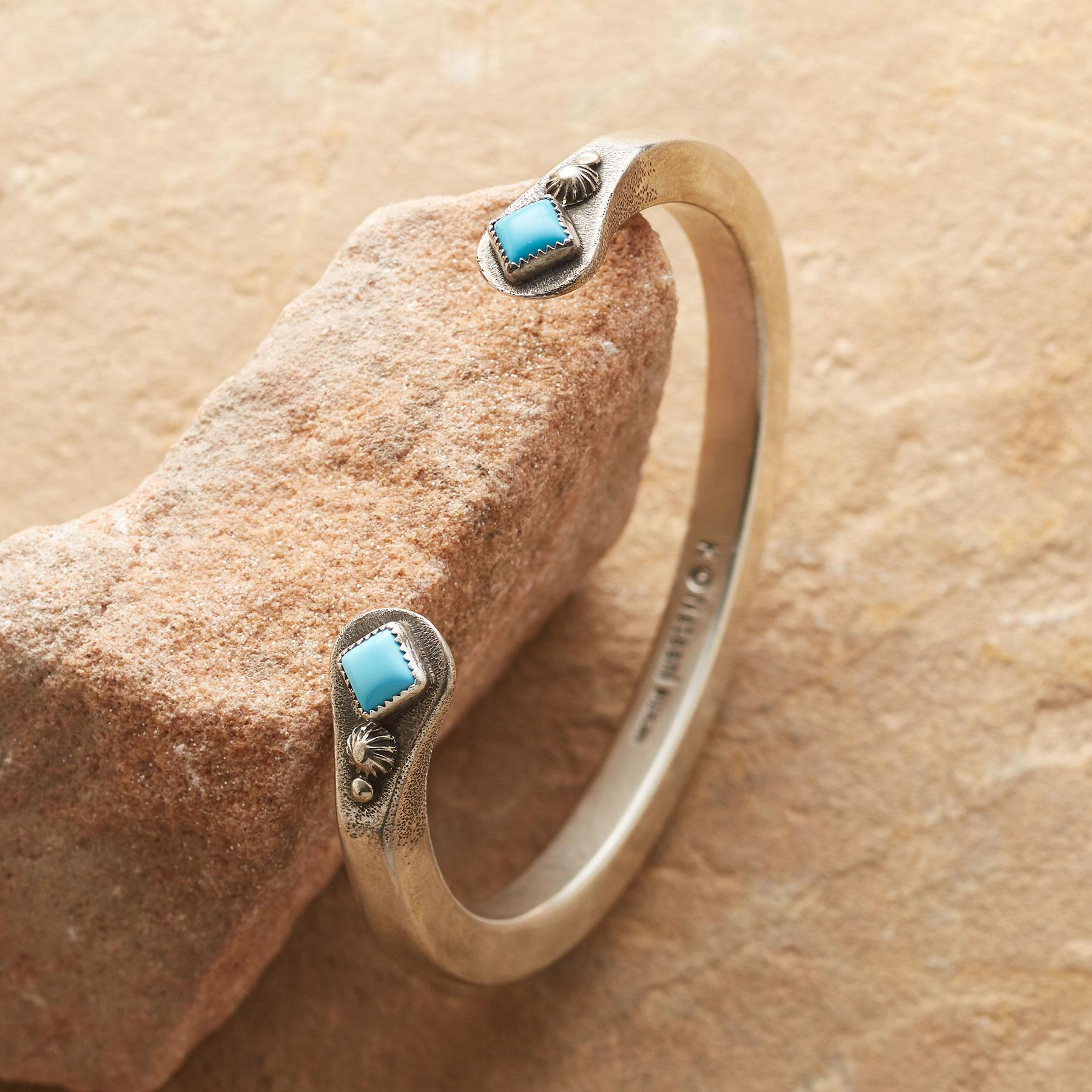 TURQUOISE EMBRACE CUFF: View 1