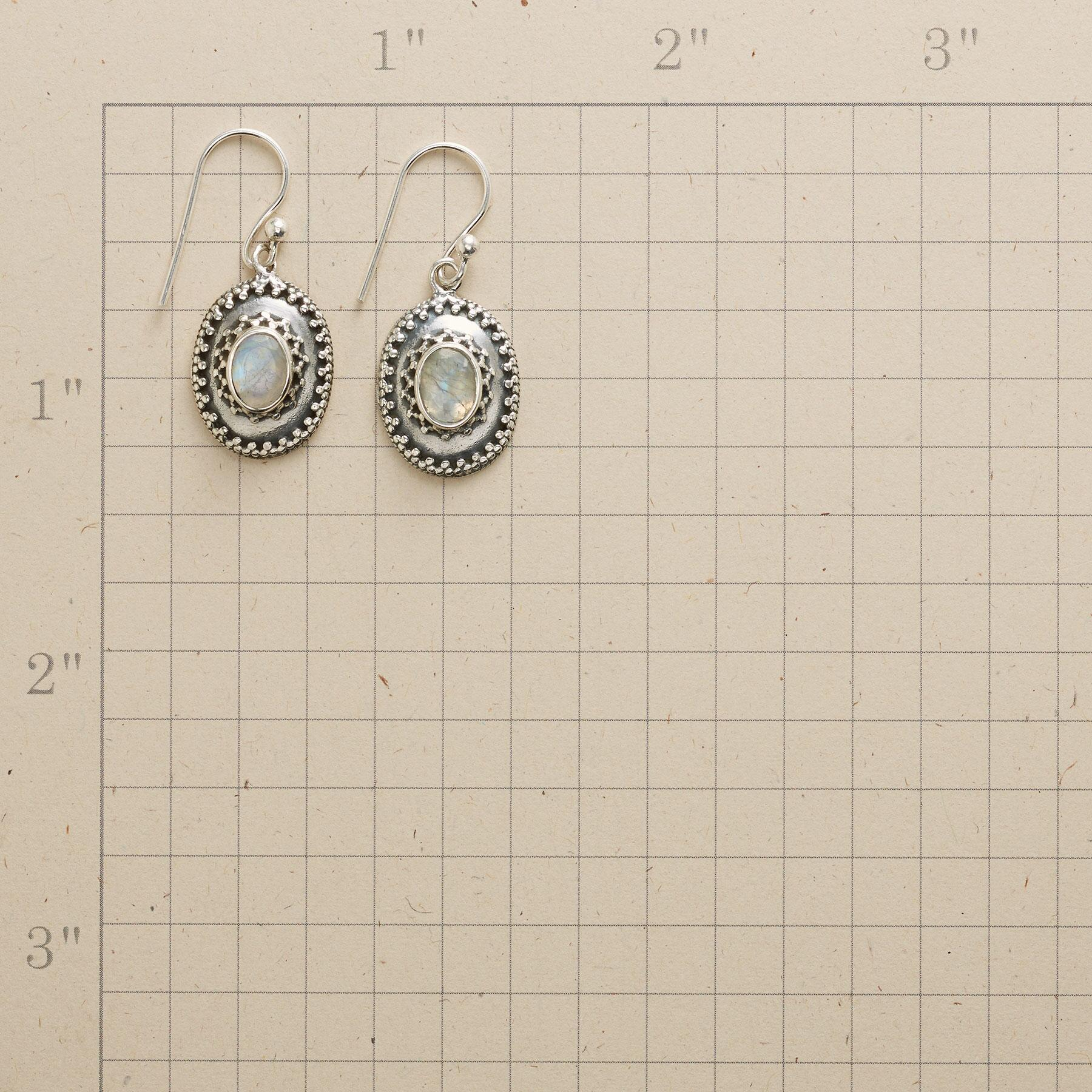 FACETED MOONLIGHT EARRINGS: View 2