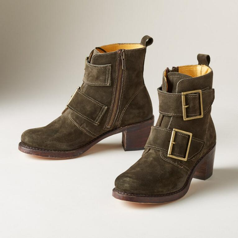 SABRINA DOUBLE BUCKLE BOOTS