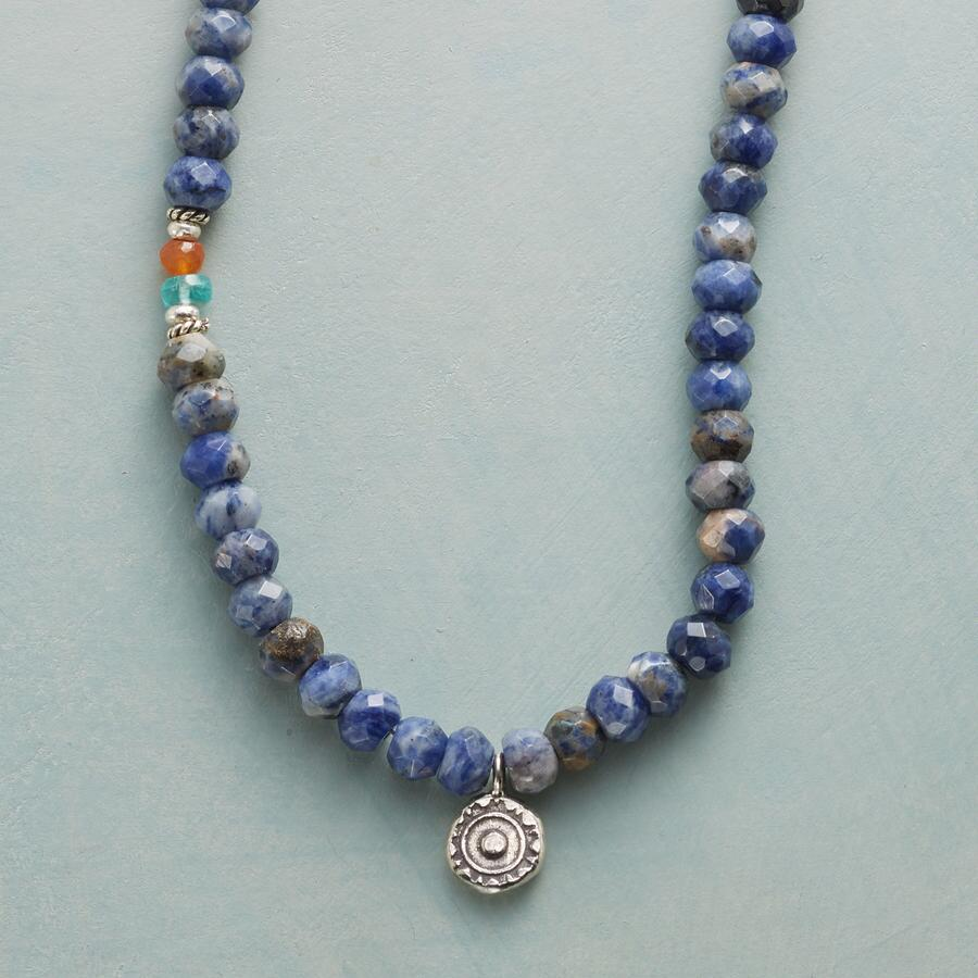 SODALITE SUNDROP NECKLACE