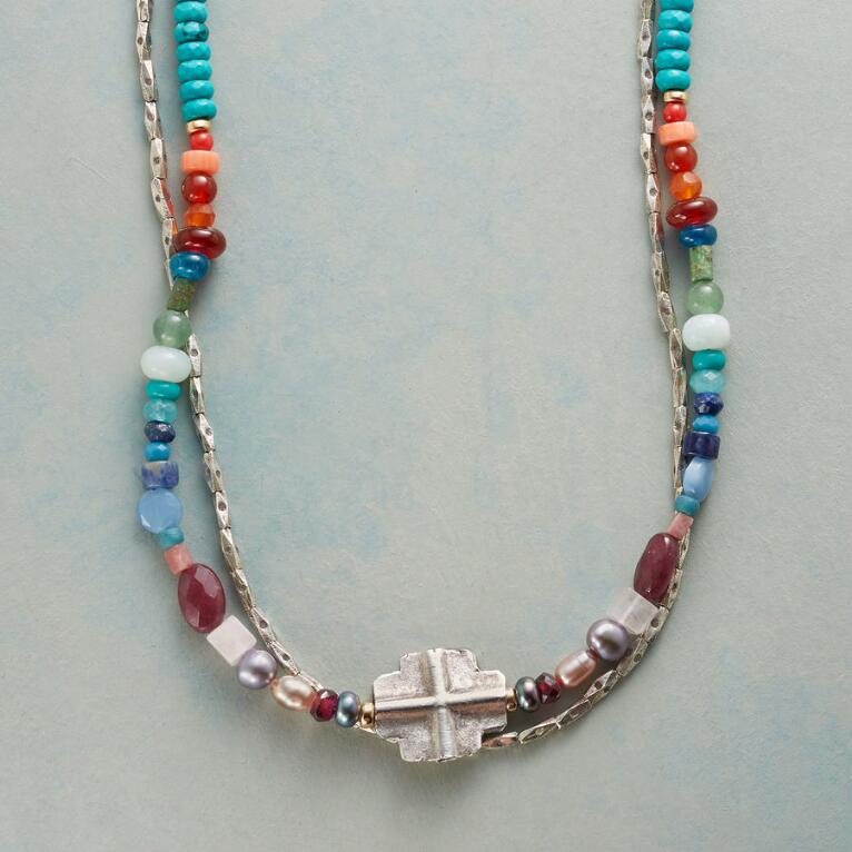 TWO STRAND CROSSROADS NECKLACE