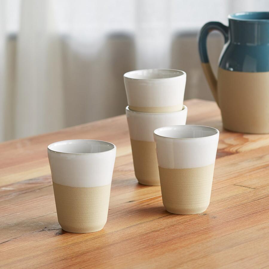CORRINE STONEWARE CUPS, SET OF 4