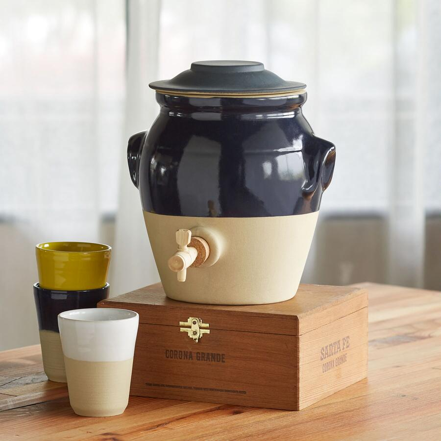 CORRINE STONEWARE BEVERAGE DISPENSER