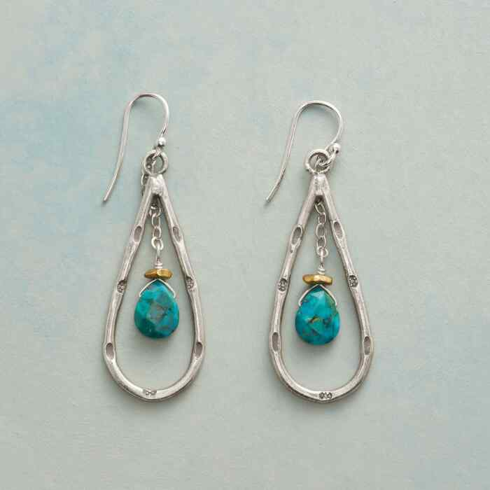 TURQUOISE CRADLE EARRINGS