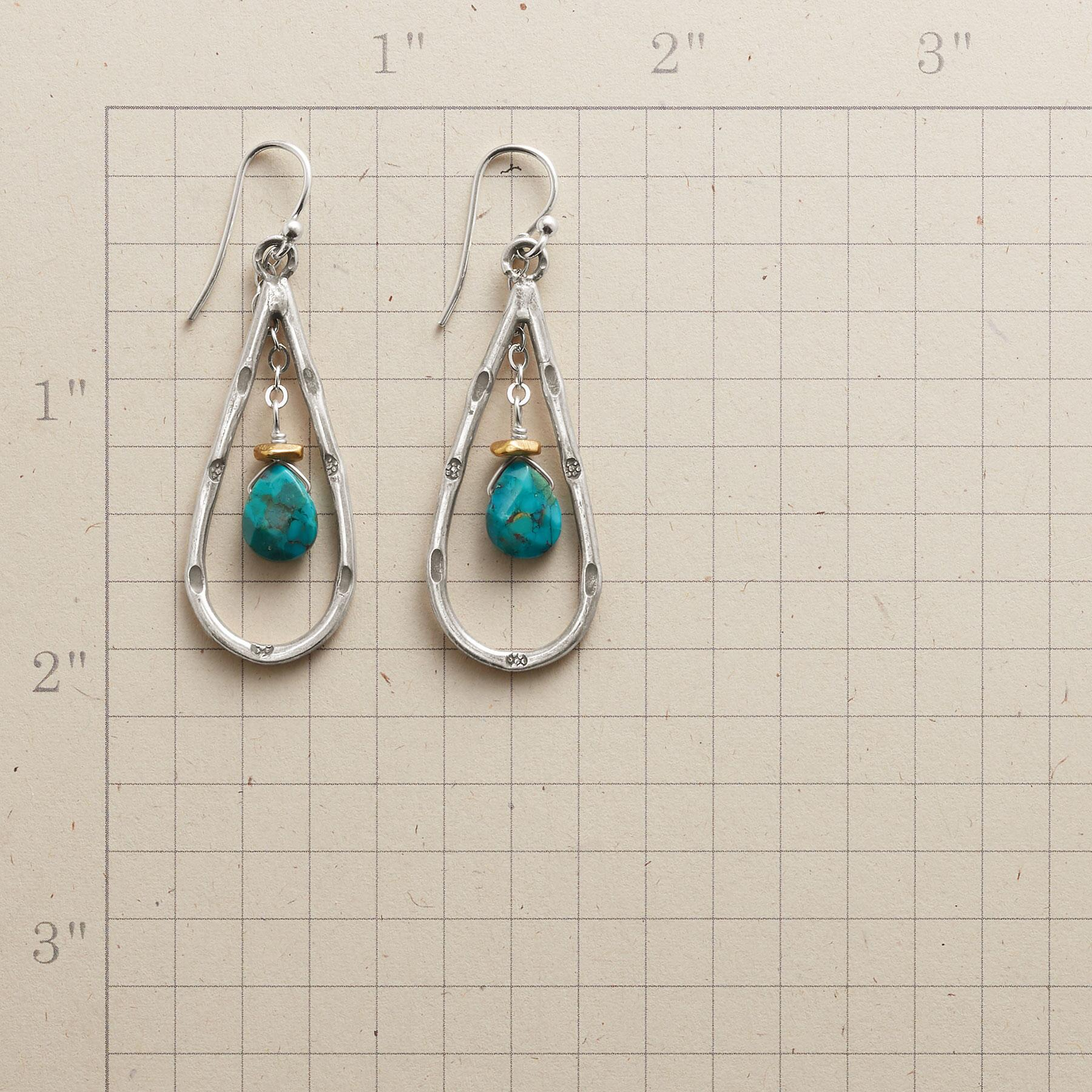 TURQUOISE CRADLE EARRINGS: View 2