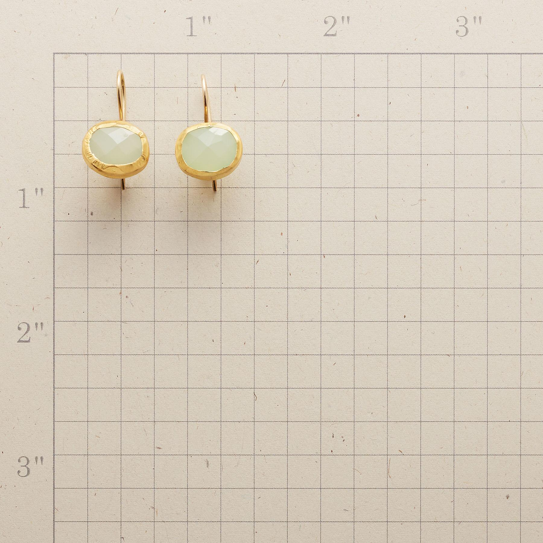 HANDWRAPPED CHALCEDONY EARRINGS: View 2