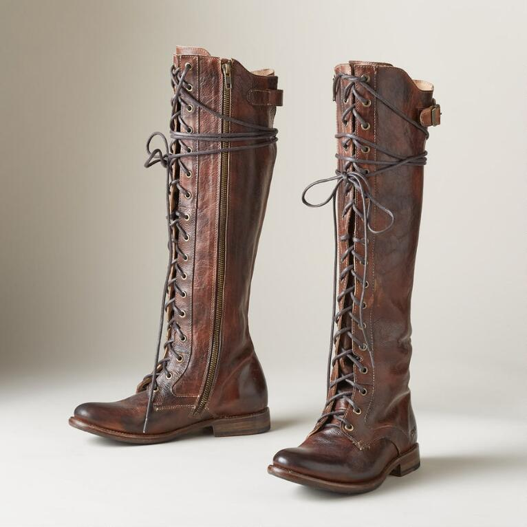 DELLA LACE UP TALL BOOTS
