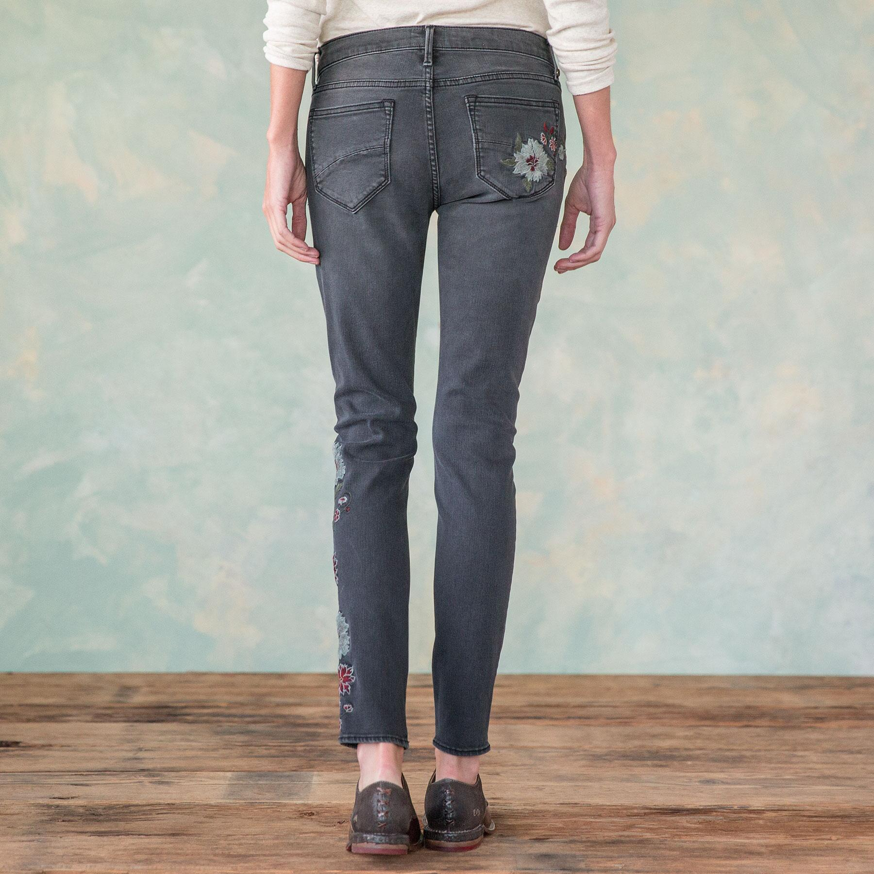 JACKIE FLORAL DRIFT JEANS: View 2