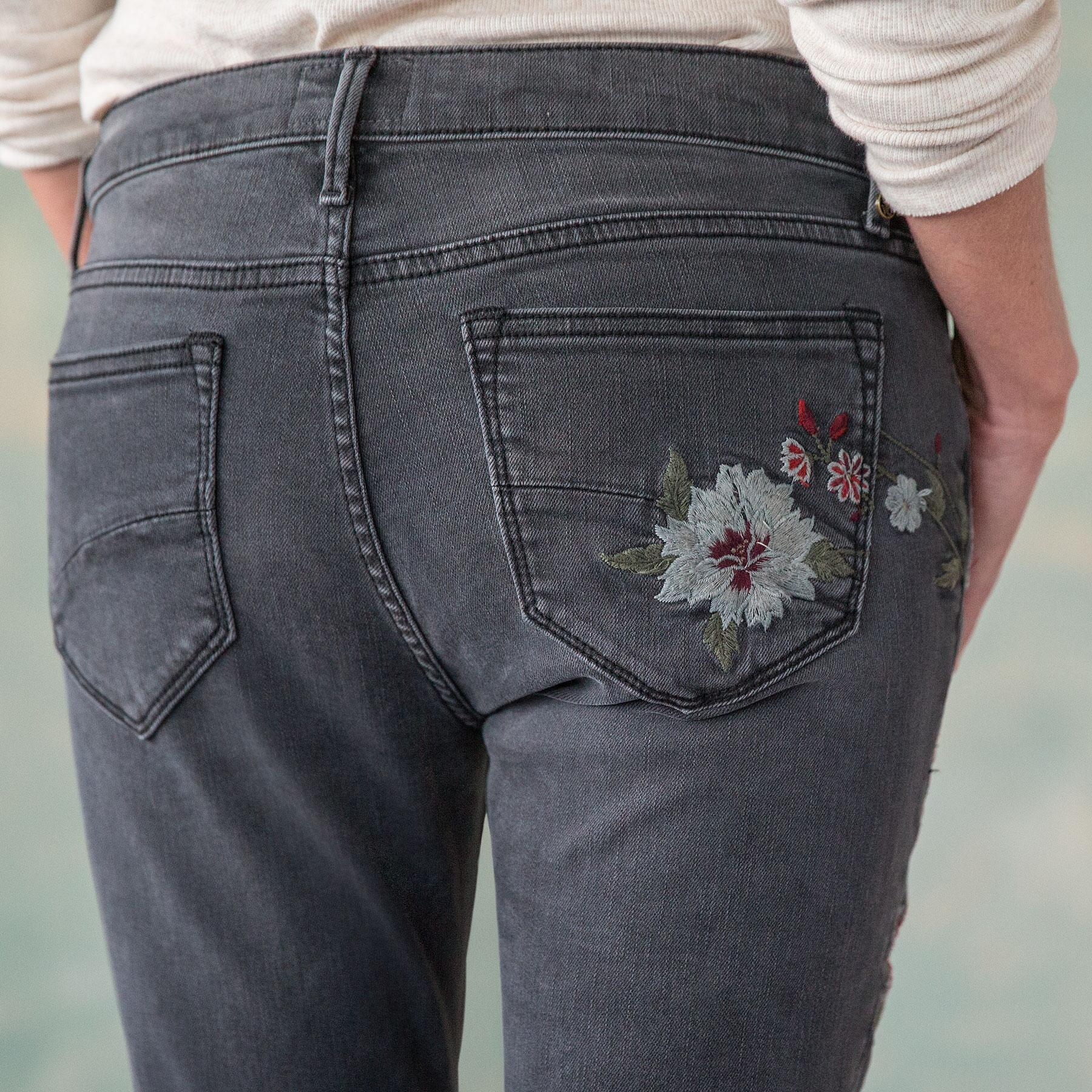 JACKIE FLORAL DRIFT JEANS: View 3