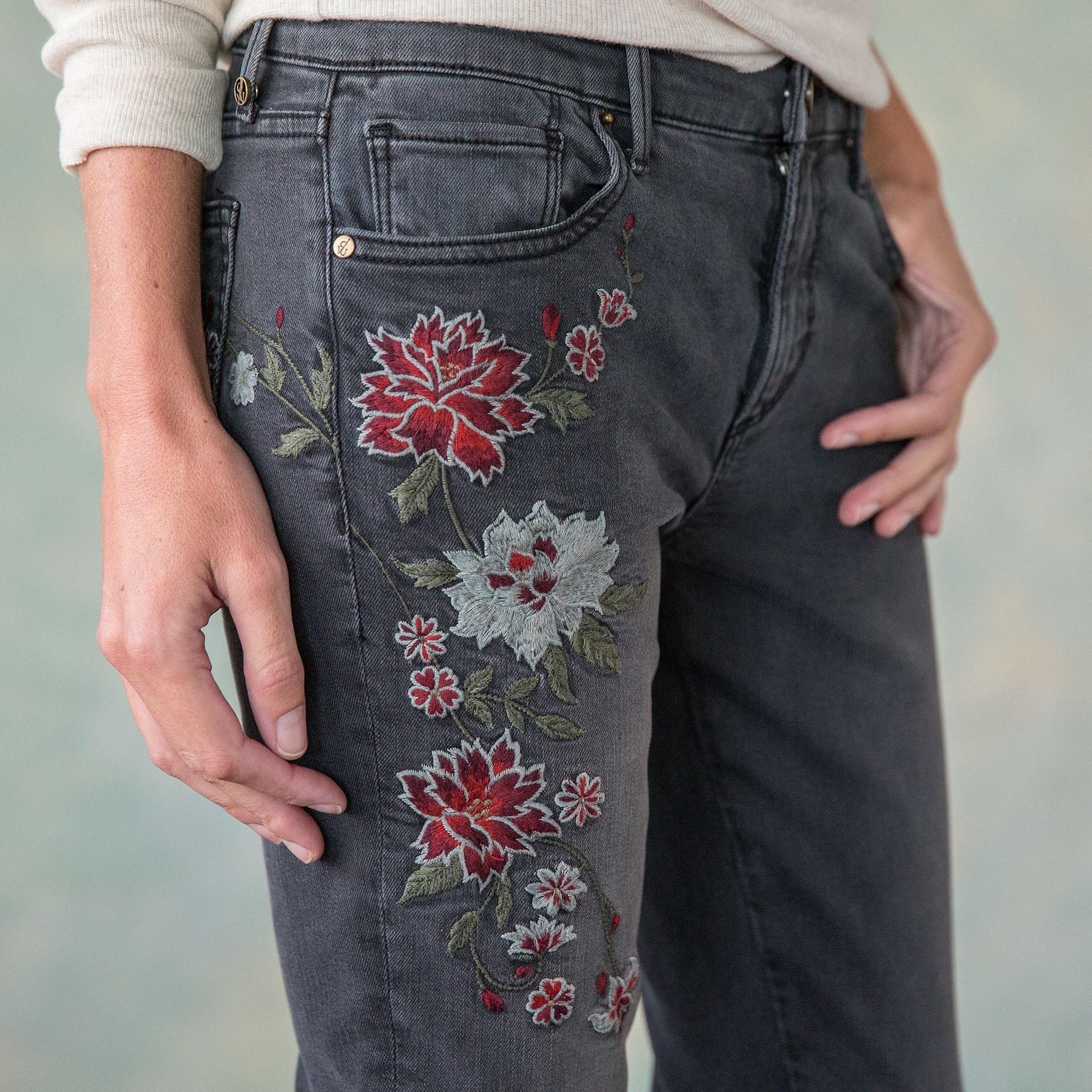 JACKIE FLORAL DRIFT JEANS: View 4