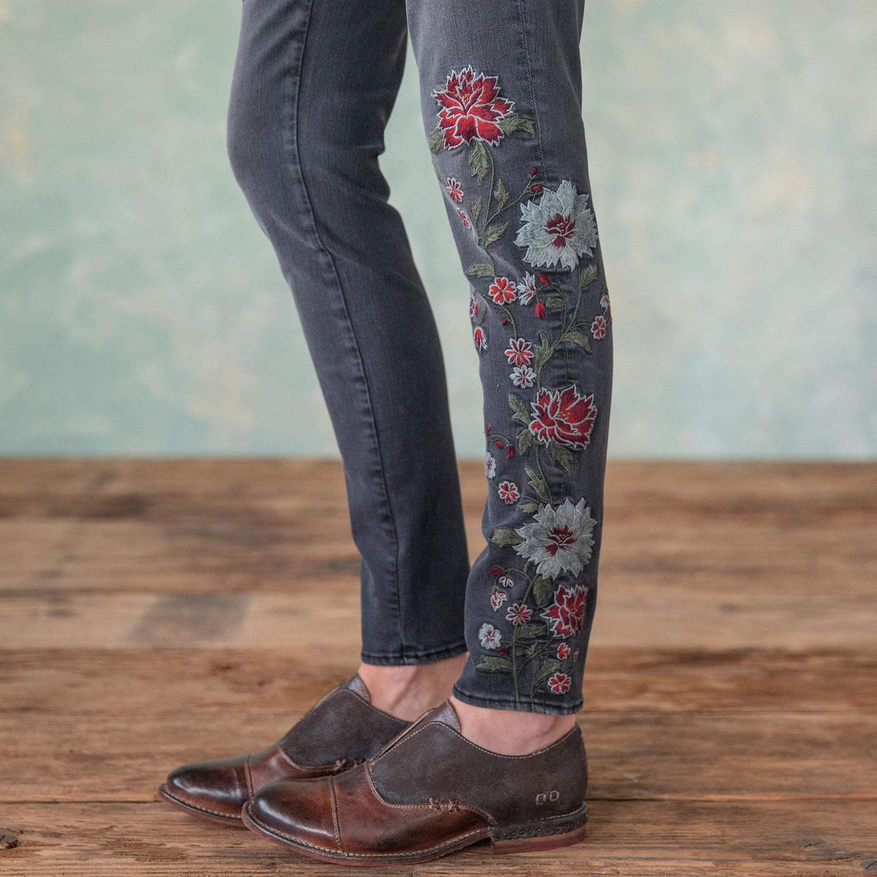 JACKIE FLORAL DRIFT JEANS: View 5