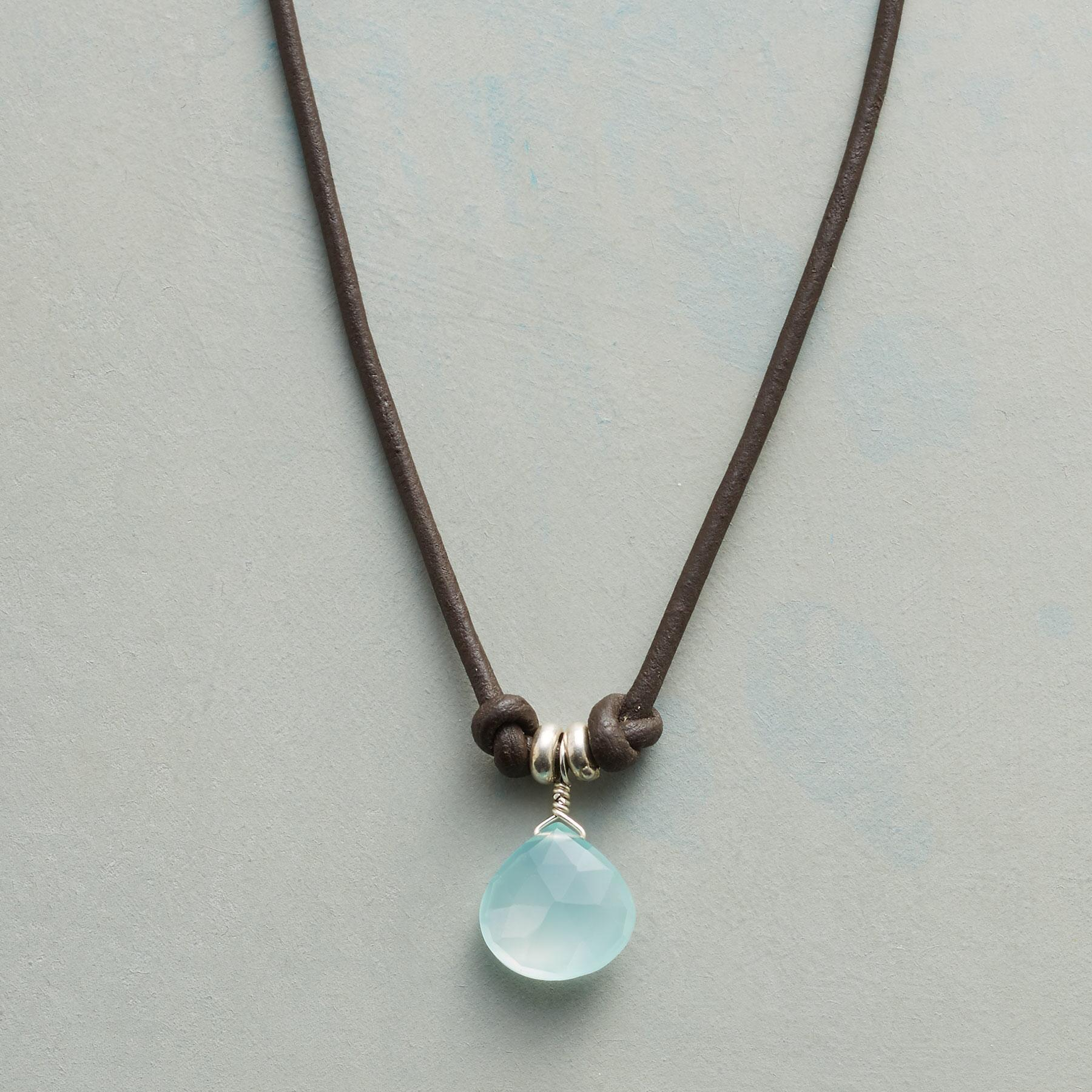 KNOTTED CHALCEDONY NECKLACE: View 1