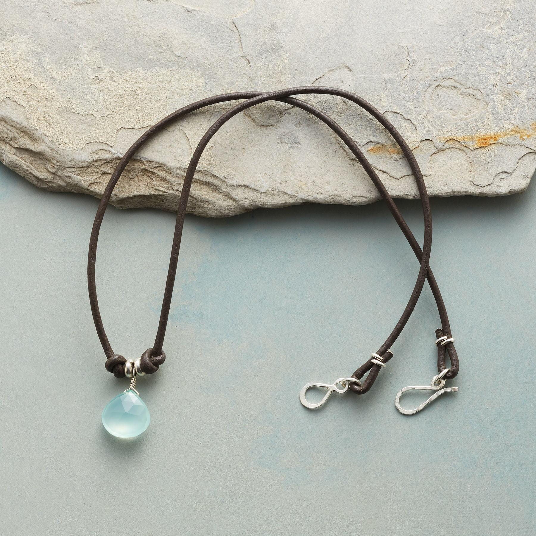 KNOTTED CHALCEDONY NECKLACE: View 2