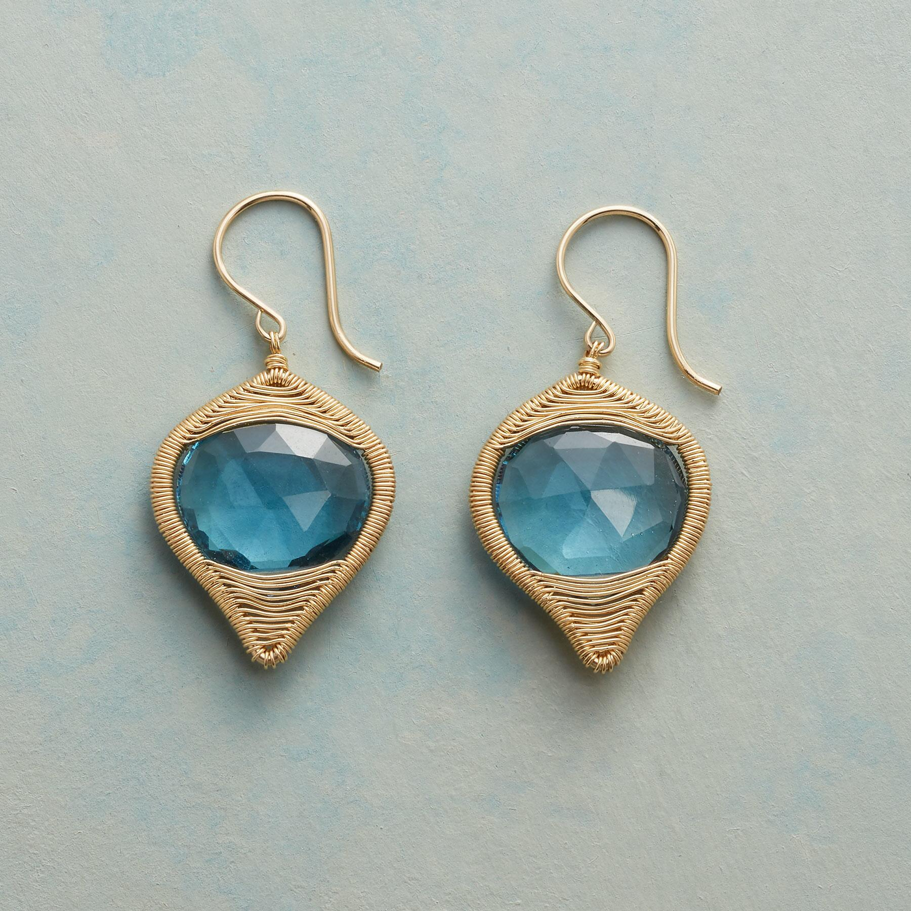 BLUE BRILLIANCE EARRINGS: View 1