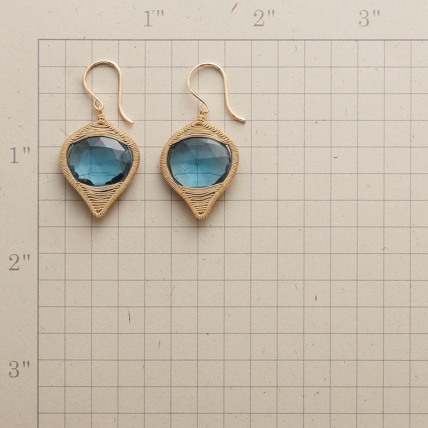 BLUE BRILLIANCE EARRINGS: View 2