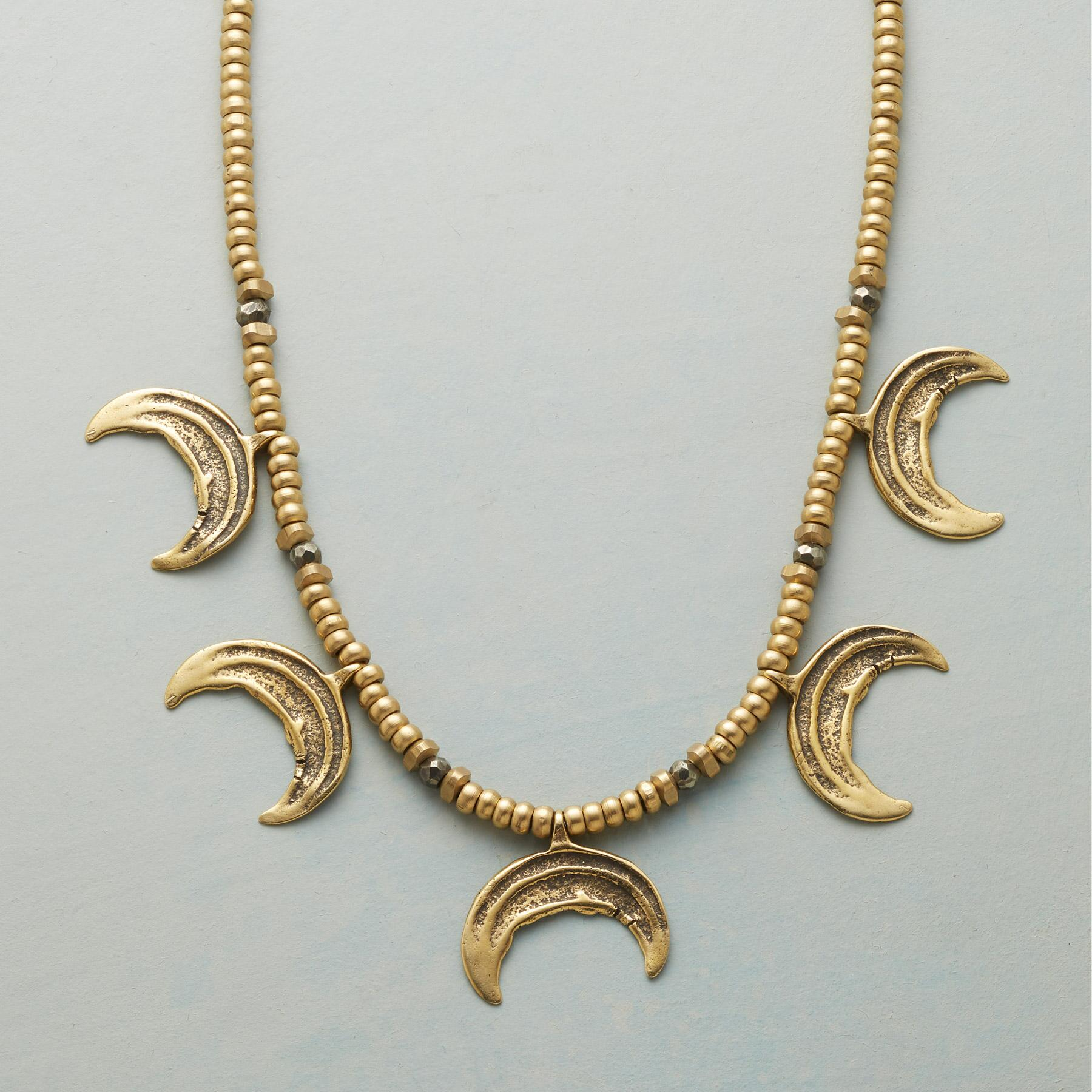 CRESCENT MOON NECKLACE: View 1
