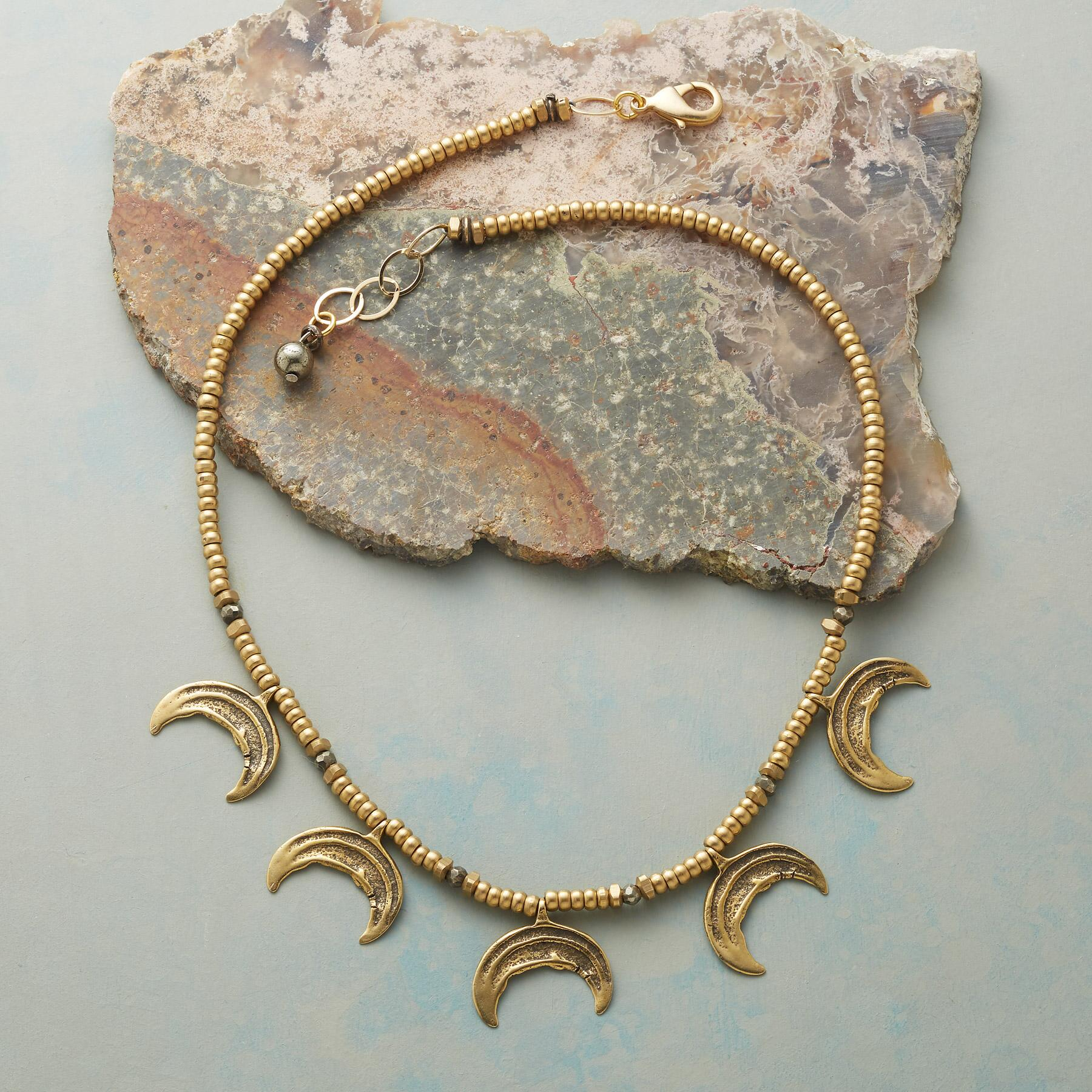 CRESCENT MOON NECKLACE: View 2