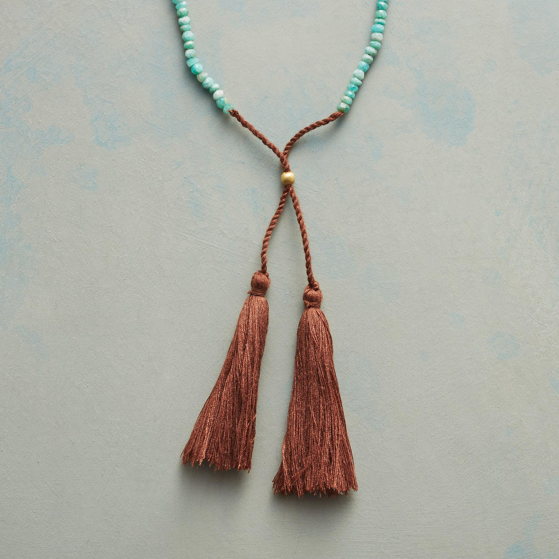 TWIN TASSEL NECKLACE: View 1