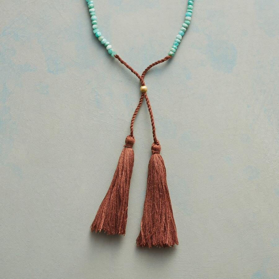 TWIN TASSEL NECKLACE