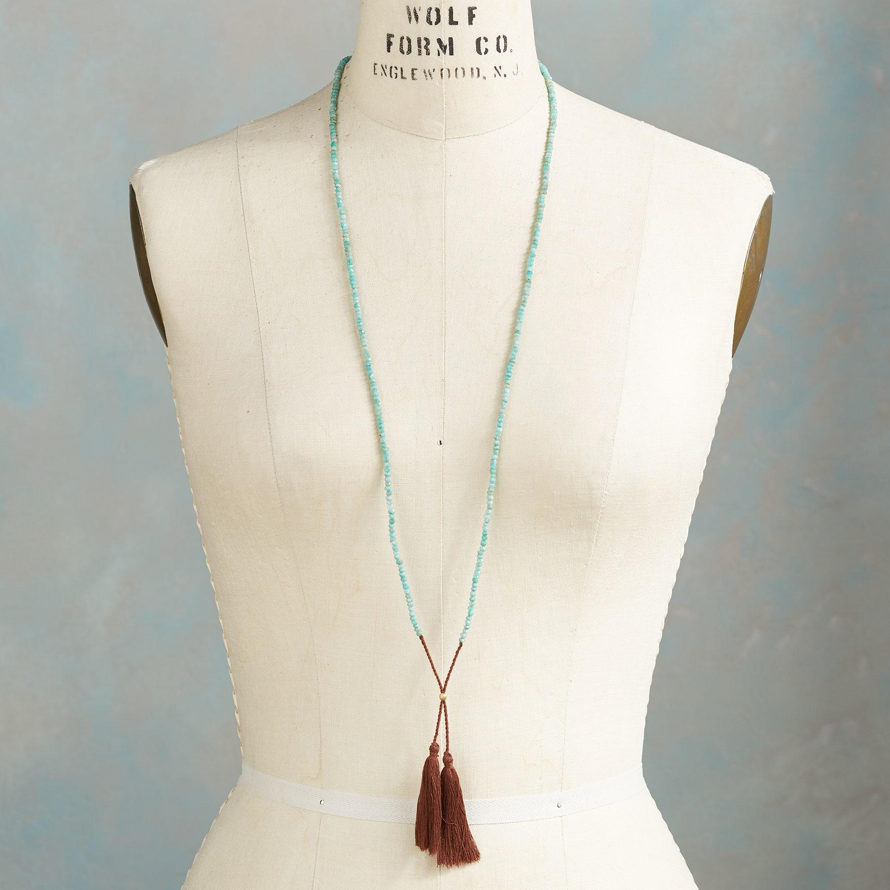 TWIN TASSEL NECKLACE: View 4