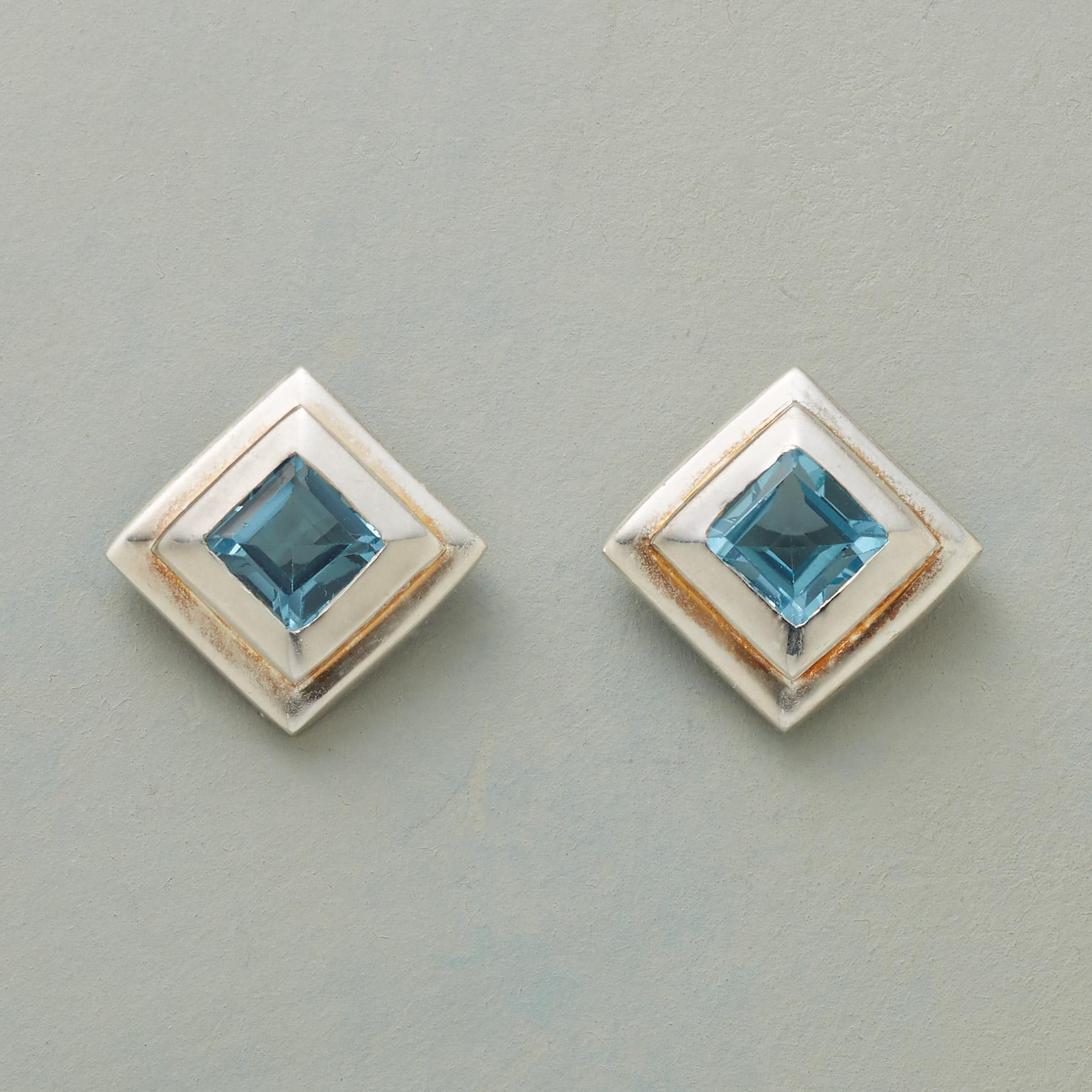 TIERED TOPAZ EARRINGS: View 1