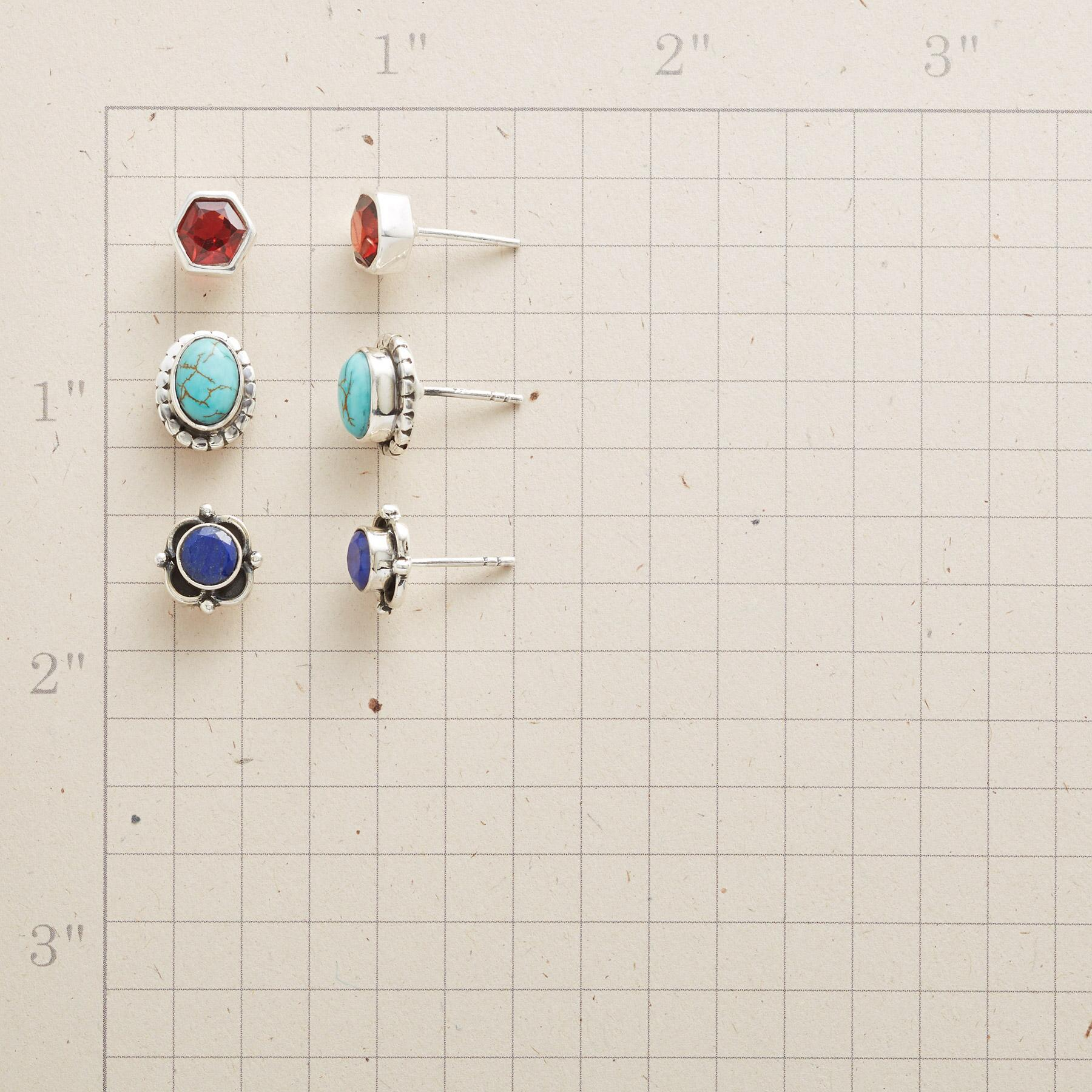 NEW GEOMETRY EARRINGS, SET OF 3: View 2
