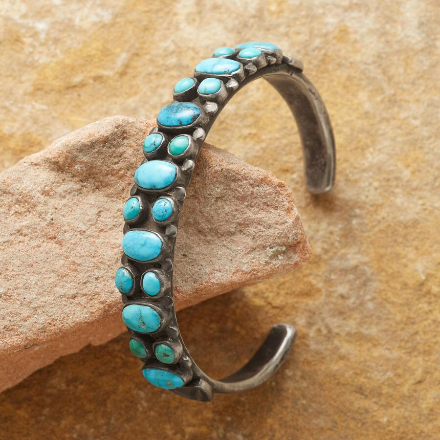 TURQUOISE LADDER CUFF
