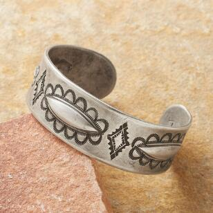 ANCIENT RHYTHMS STERLING CUFF