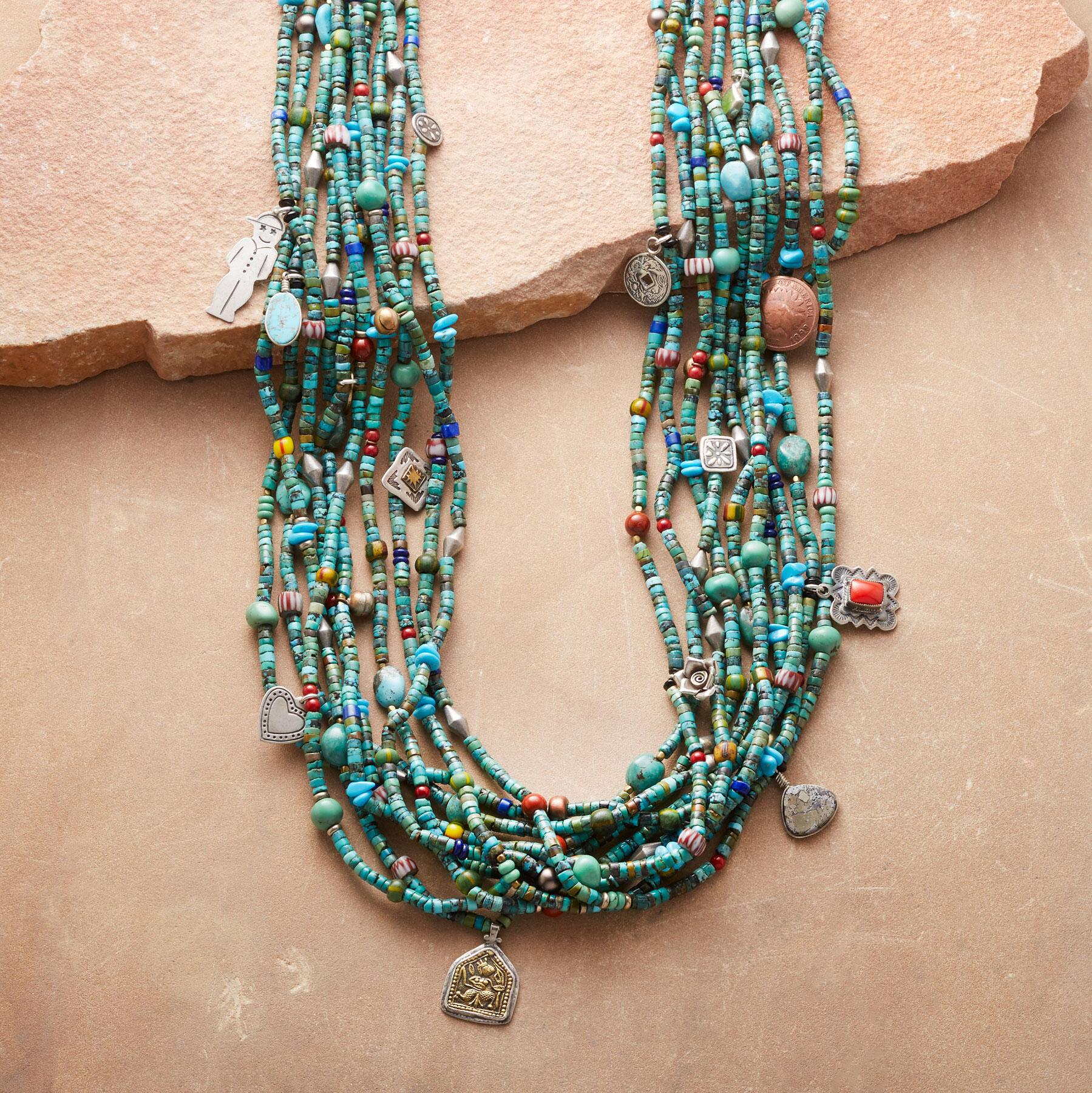 TURQUOISE TALISMAN NECKLACE: View 1