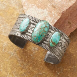 1950S NEVADA TURQUOISE CUFF