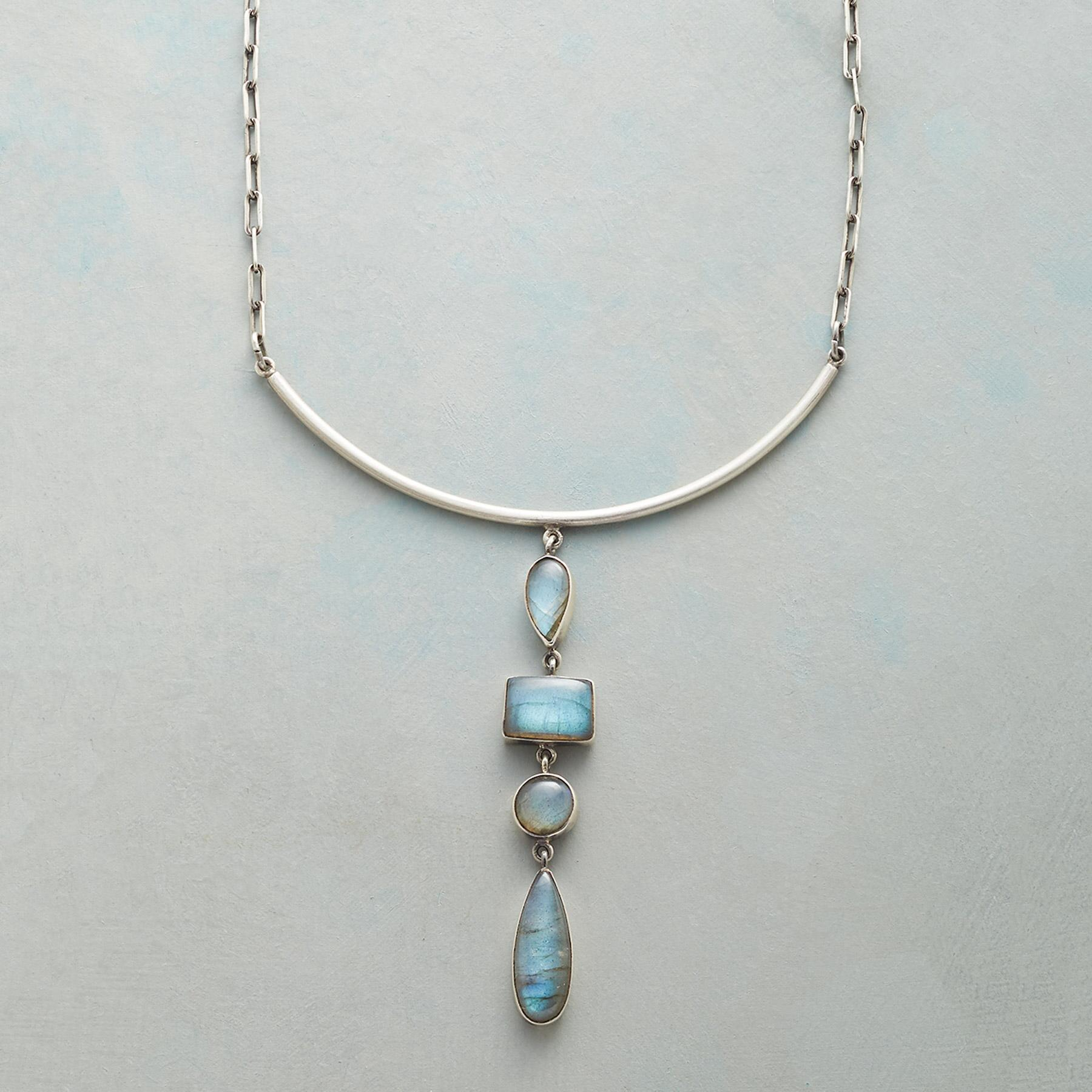 LABRADORITE FALLS NECKLACE: View 1