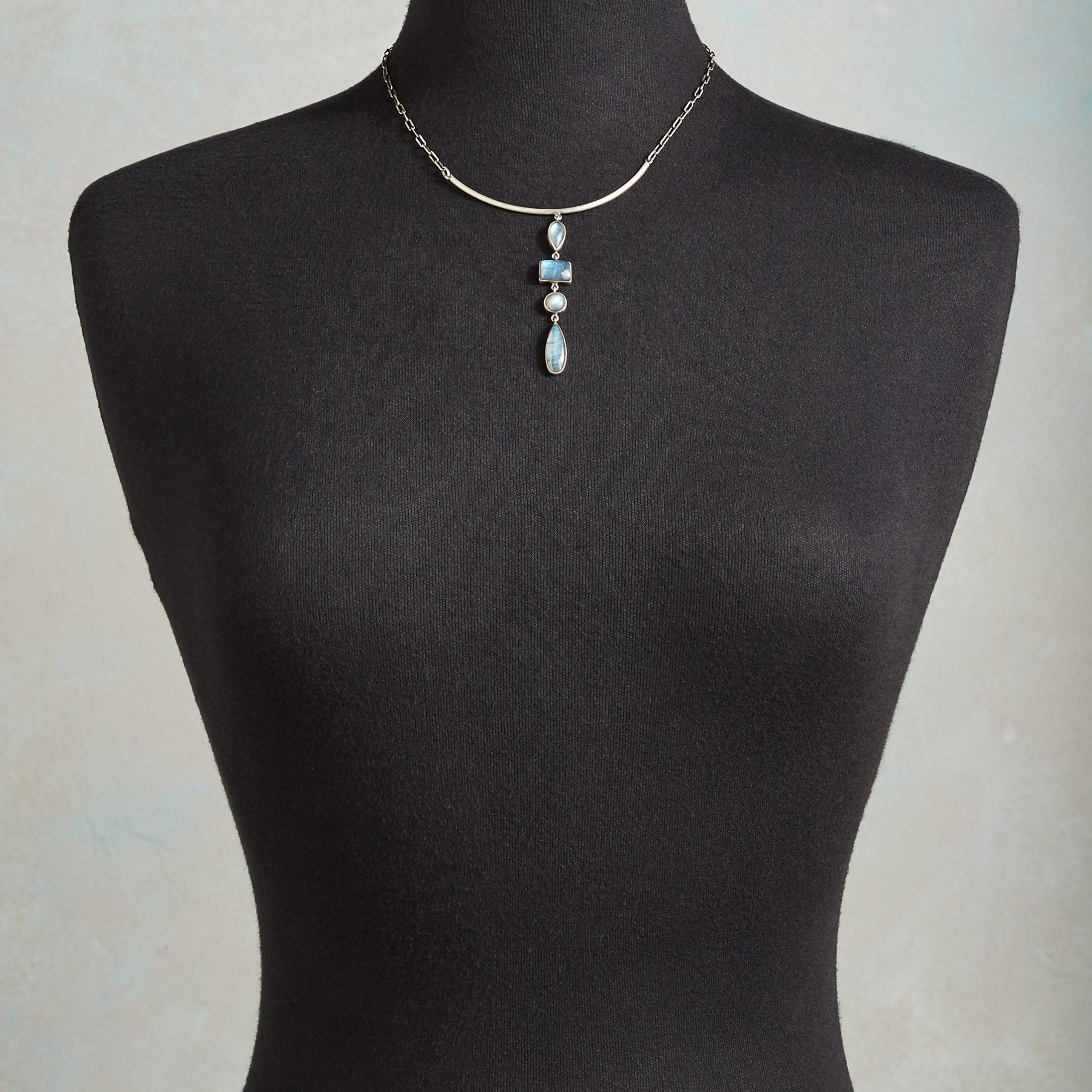 LABRADORITE FALLS NECKLACE: View 3