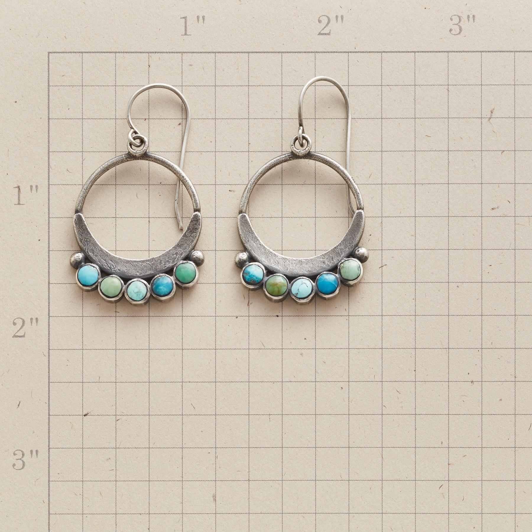 SHADES OF TURQUOISE HOOP EARRINGS: View 2