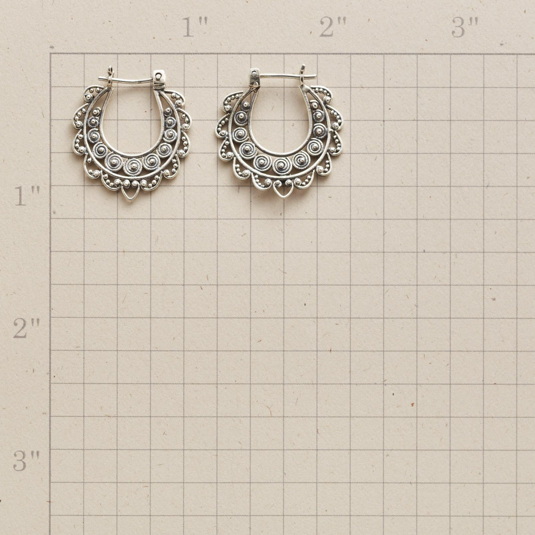 LACED STERLING HOOPS: View 2