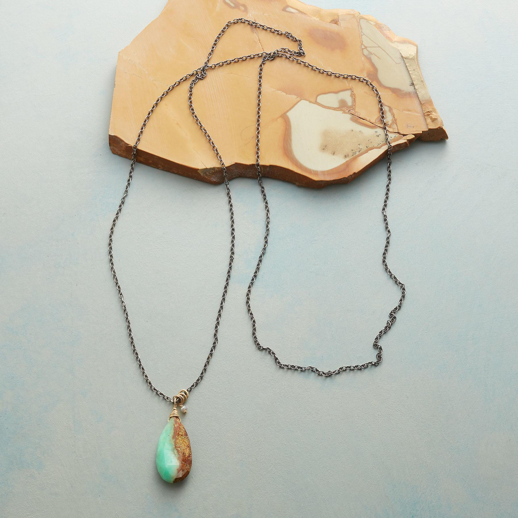 CHRYSOPRASE TEARDROP NECKLACE: View 2