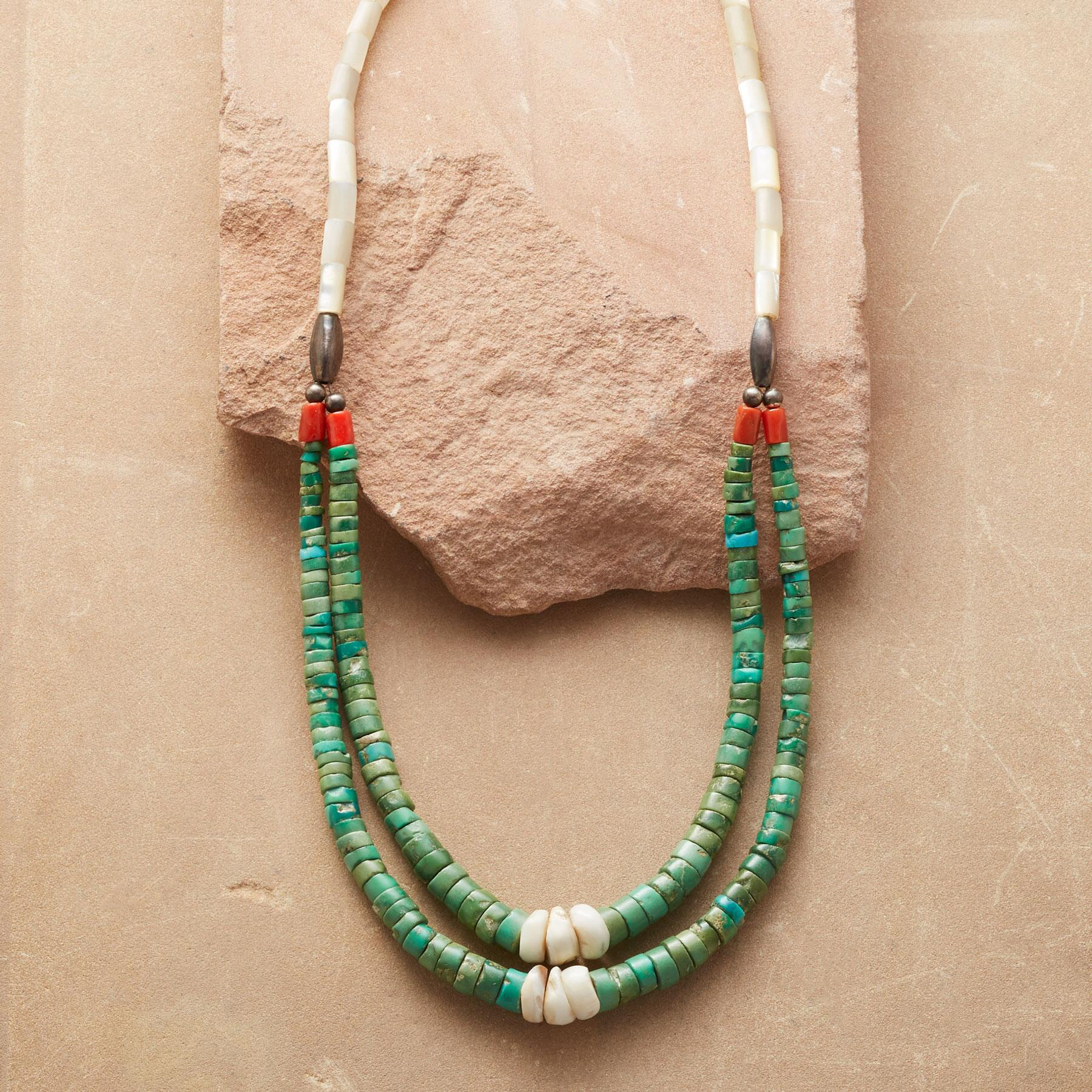 1930S TURQUOISE JACLA NECKLACE: View 1