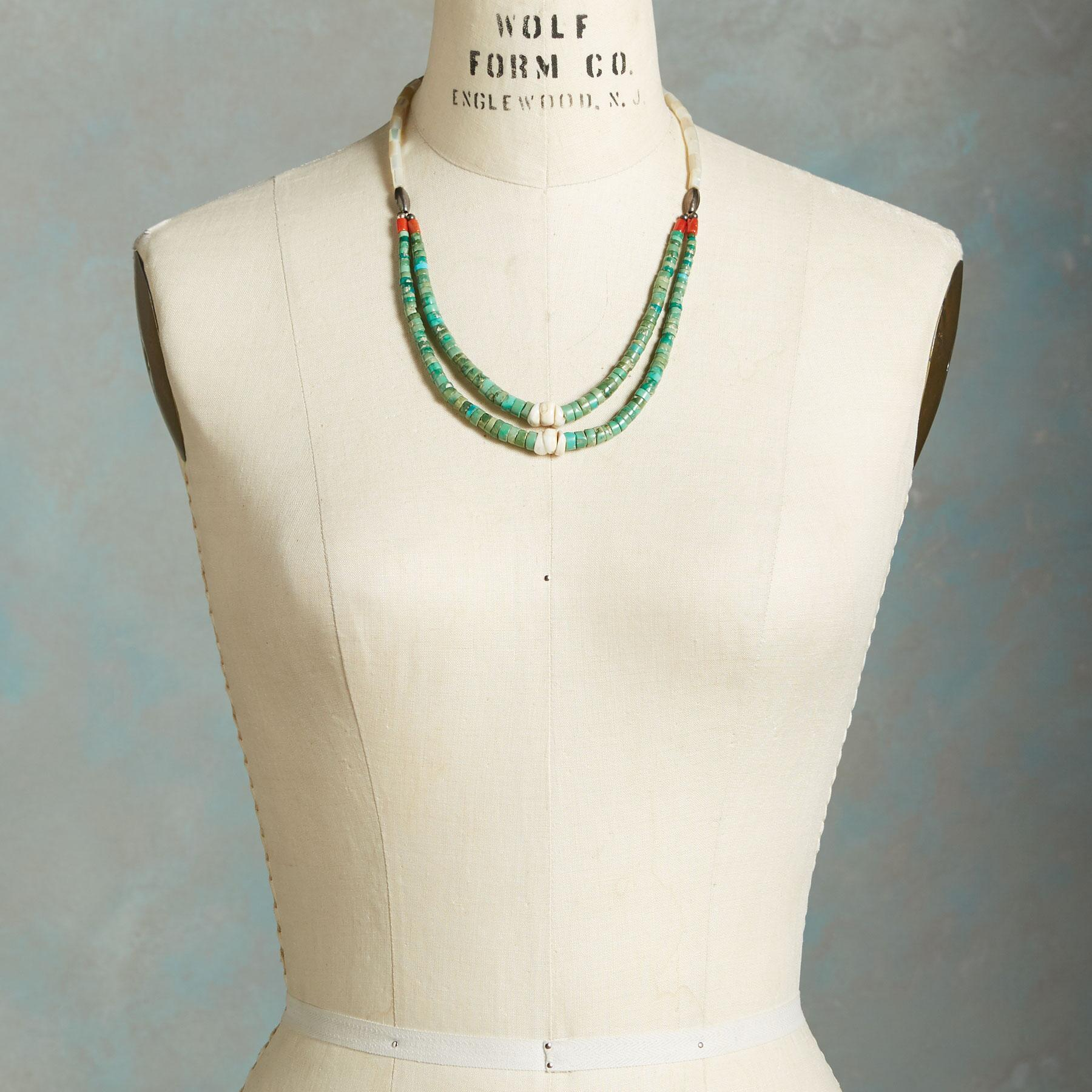1930S TURQUOISE JACLA NECKLACE: View 3