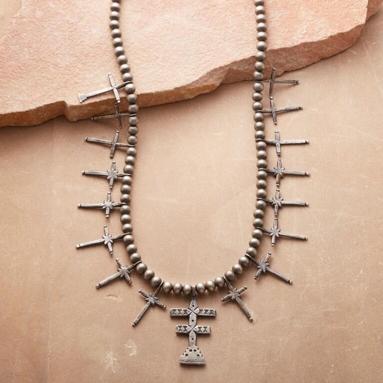 PUEBLO DOUBLE CROSS NECKLACE