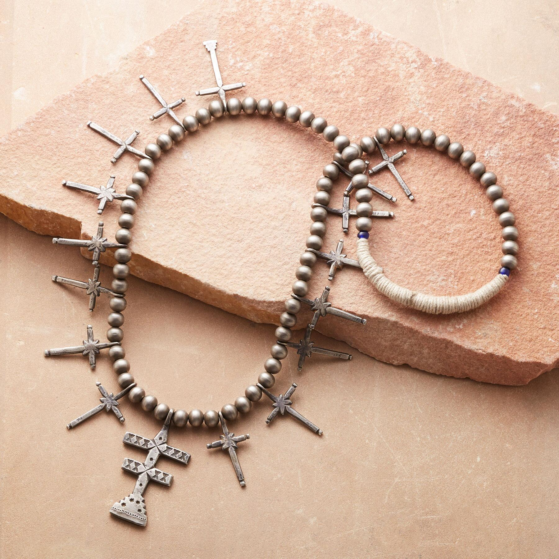 PUEBLO DOUBLE CROSS NECKLACE: View 2