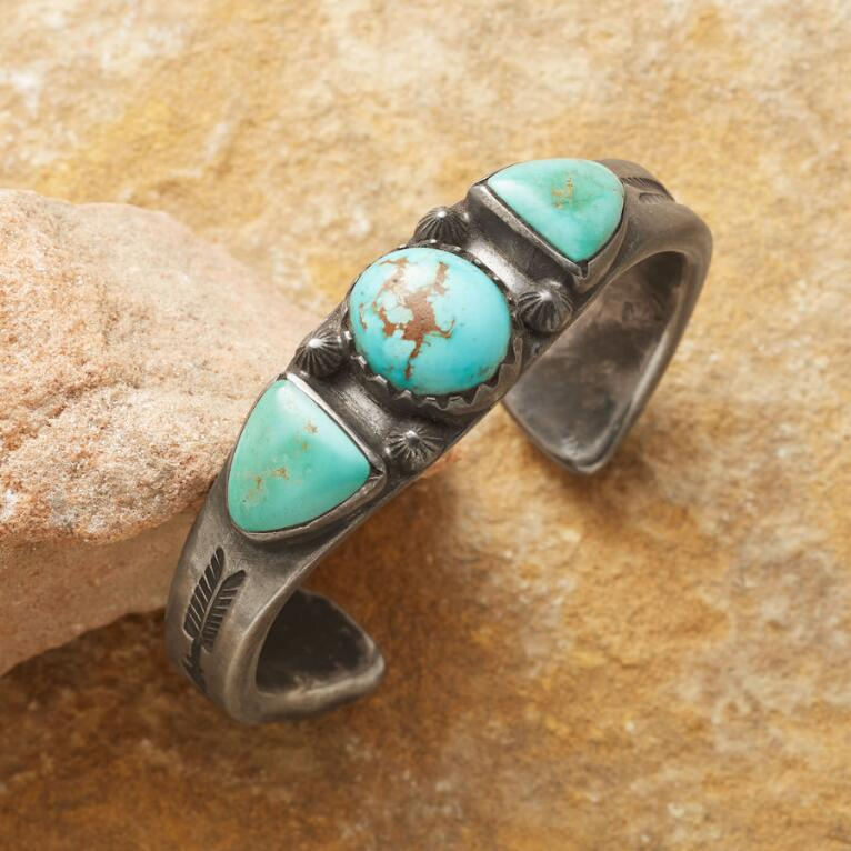 ROYSTON TIPPED TURQUOISE CUFF