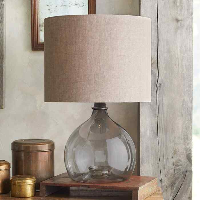 SALON GLASS DEMIJOHN TABLE LAMP