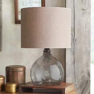 SALON GLASS DEMIJOHN TABLE LAMP