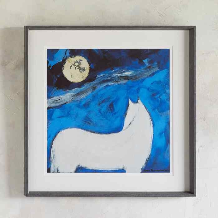 WHITE HORSE MOON PRINT